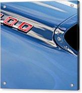 1969 Pontiac Firebird 400 Hood Acrylic Print