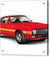 1969 Shelby Cobra Gt 500 Retro Sports Car Acrylic Print