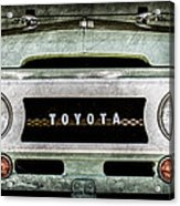 1969 Toyota Fj-40 Land Cruiser Grille Emblem -0444ac Acrylic Print