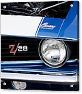 1969 Z28 Camaro Real Muscle Car Acrylic Print