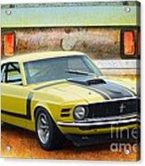 1970 Boss 302 Mustang Acrylic Print
