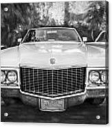 1970 Cadillac Coupe Deville Convertible Painted Bw Acrylic Print