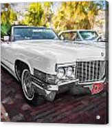 1970 Cadillac Coupe Deville Convertible Painted  Acrylic Print