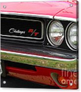 1970 Challenger Grill Acrylic Print