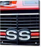1970 Chevrolet Chevelle Ss 454 Grille Emblem Acrylic Print by Jill Reger