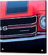 1970 Chevrolet El Camino Ss Grille Emblem Acrylic Print