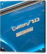 1970 Chevy Custom 350 Truck  Acrylic Print