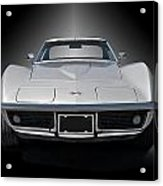 1970 Corvette Stingray Studio Acrylic Print