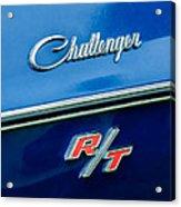 1970 Dodge Challenger Rt Convertible Emblem Acrylic Print by Jill Reger