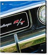 1970 Dodge Challenger Rt Convertible Grille Emblem Acrylic Print