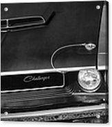 1970 Dodge Challenger T/a In Black And White Acrylic Print