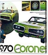 1970 Dodge Coronet R/t Acrylic Print