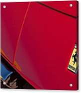 1971970 Ferrari 365 Gtb-4 Daytona Berlinetta Hood0  Ferrari 365 Gtb-4 Daytona Berlinetta Hood Emblem Acrylic Print
