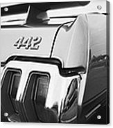 1970 Olds 442 Black And White Acrylic Print