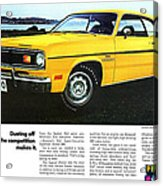 1970 Plymouth Duster 340 Acrylic Print