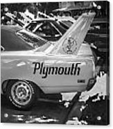 1970 Plymouth Road Runner Hemi Super Bird Bw Acrylic Print