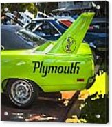 1970 Plymouth Road Runner Hemi Super Bird  Acrylic Print