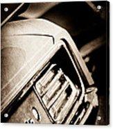 1970 Pontiac Barracuda Cuda Taillight Emblem Acrylic Print