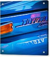 1970 Toyota Land Cruiser Fj40 Hardtop Emblem Acrylic Print