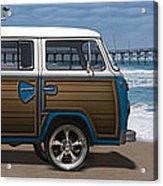 1970 Vw Bus Woody Acrylic Print