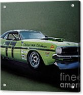 1970's Challenger Race Car Acrylic Print