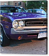 1971 Challenger Front And Side View Acrylic Print