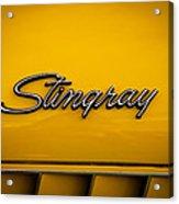 1971 Chevrolet Corvette Stingray Emblem Acrylic Print