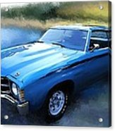 1971 Chevy Chevelle Acrylic Print by Robert Smith