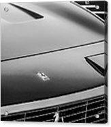 1971 Ferrari 365 Gtc-4 Grille Emblem -1541bw Acrylic Print