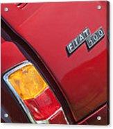 1971 Fiat 500 Jolly Taillight Acrylic Print