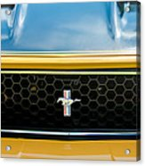 1971 Ford Mustang Mach 1 Front End Acrylic Print