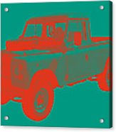 1971 Land Rover Pick Up Truck Modern Art Acrylic Print