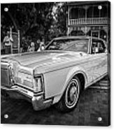 1971 Lincoln Continental Mark IIi Painted Bw   Acrylic Print