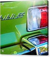 1971 Maserati Ghibli 4.9 Ss Spyder Taillight Emblem -0187c Acrylic Print