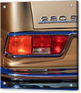 1971 Mercedes-benz 280se 3.5 Cabriolet Taillight Emblem Acrylic Print