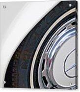 1971 Mercedes-benz Wheel Emblem Acrylic Print