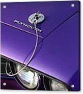 1971 Plum Crazy Purple Plymouth 'cuda 440 Acrylic Print by Gordon Dean II