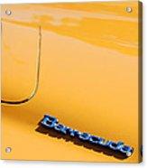 1971 Plymouth Barracuda Convertible Hood Emblem Acrylic Print