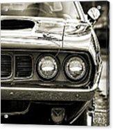 1971 Plymouth Cuda 383 Acrylic Print