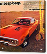 1971 Plymouth Road Runner Acrylic Print