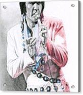1971 Turquoise Concho Suit Acrylic Print