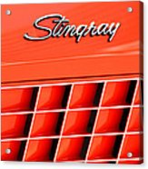1972 Chevrolet Corvette Stingray Emblem 3 Acrylic Print