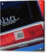 1972 Chevrolet Nova Ss Taillight Emblem -0355c Acrylic Print