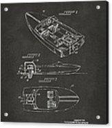 1972 Chris Craft Boat Patent Artwork - Gray Acrylic Print