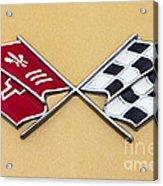 1972 Corvette Crossed Flags Acrylic Print