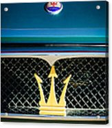 1972 Maserati Ghibli Grille - Hood Emblems Acrylic Print