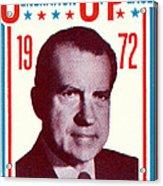 1972 Nixon Presidential Campaign Acrylic Print