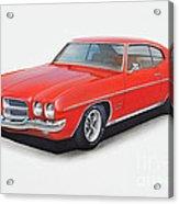 1972 Pontiac Lemans Acrylic Print
