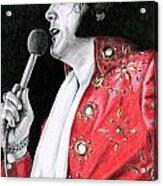 1972 Red Pinwheel Suit Acrylic Print