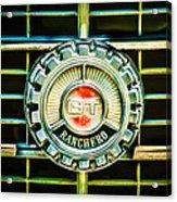 1973 Ford Ranchero Grille Emblem -0769c Acrylic Print